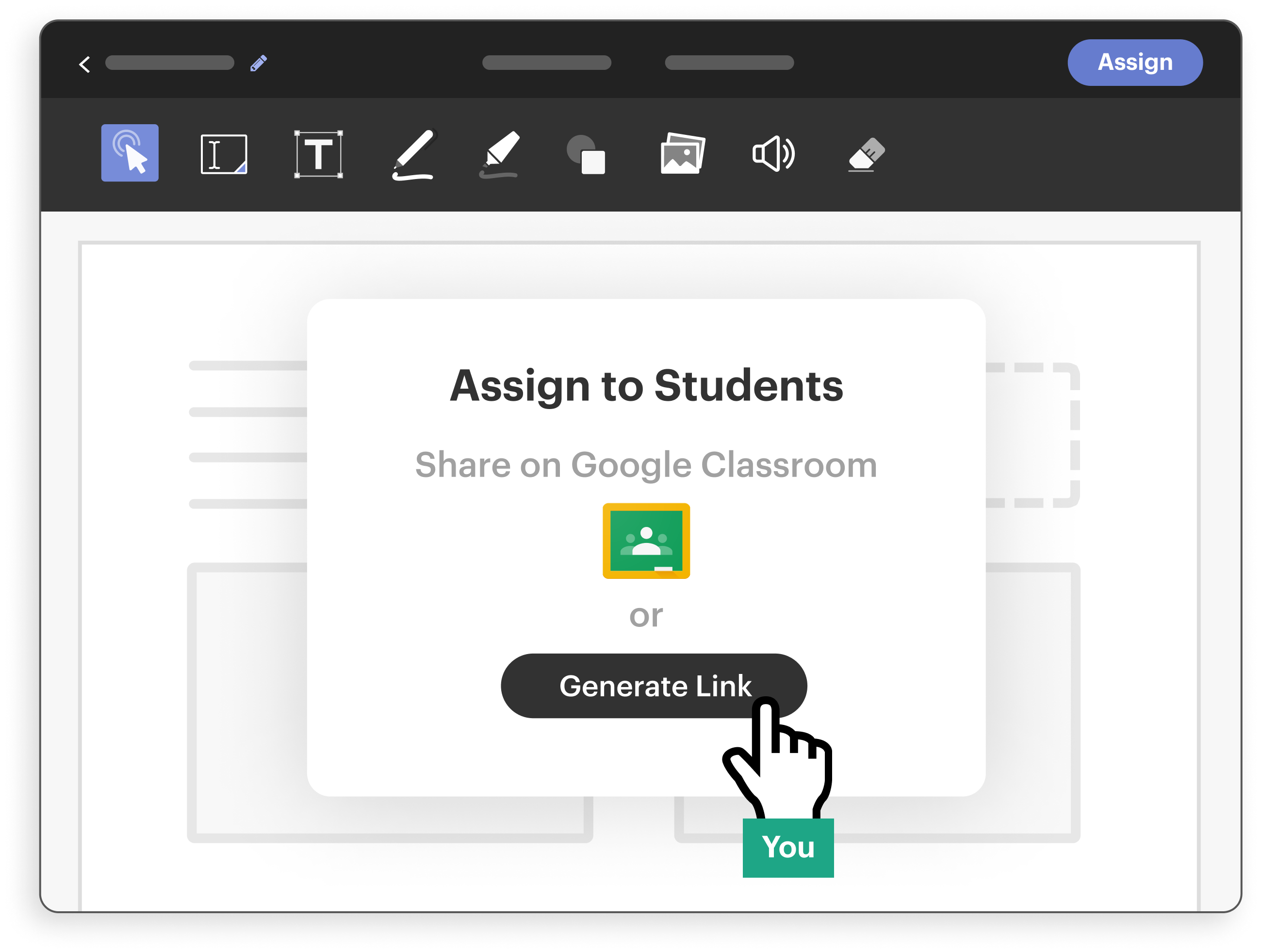 Assigning an activity with Google Classroom
