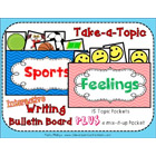 Take-a-Topic Interactive Writing Bulletin Board